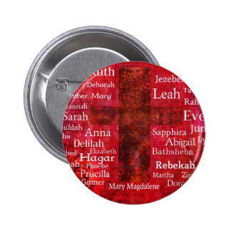 Important Women in the Bible list Pinback Button
