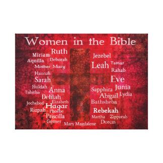 Important Women in the Bible list Canvas Prints