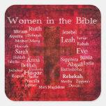 Important Women in the Bible list Sticker