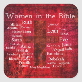 Important Women in the Bible list Square Sticker