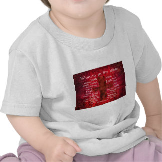 Important Women in the Bible list T Shirts