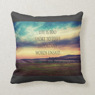 Important Words landscape Throw Pillows