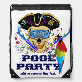 IMPORTANTE de la fiesta en la piscina del pirata Mochilas