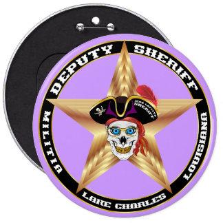 IMPORTANTE del ayudante del sheriff del pirata Pin Redondo 15 Cm