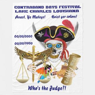IMPORTANTE del juez del pirata leído sobre diseño Manta De Forro Polar