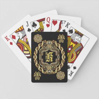 IMPORTANTE del monograma K leído sobre diseño Cartas De Juego
