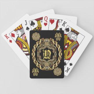 IMPORTANTE del monograma N leído sobre diseño Cartas De Juego
