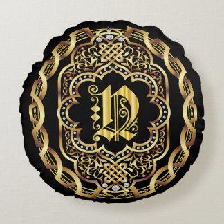 IMPORTANTE del monograma N leído sobre diseño Cojín Redondo