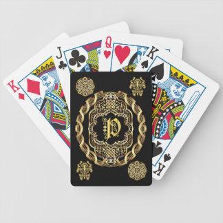 IMPORTANTE del monograma P leído sobre diseño Cartas De Juego