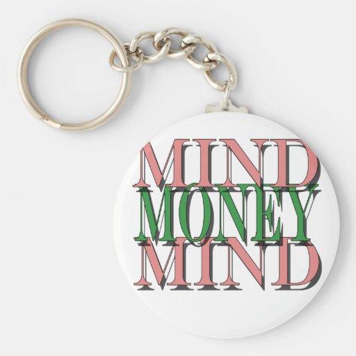 Importe en mi dinero, dinero en mi mente llavero redondo tipo pin