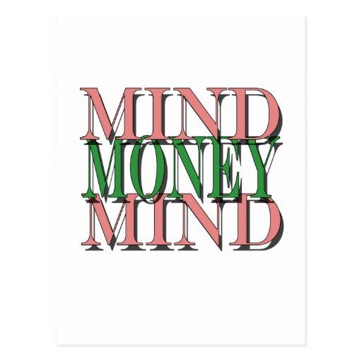 Importe en mi dinero, dinero en mi mente tarjetas postales