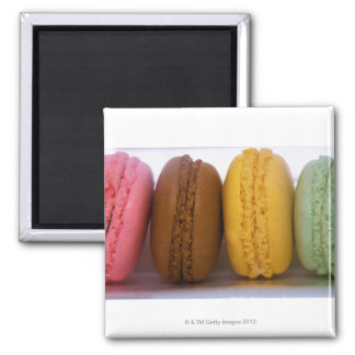 Imported gourmet French macarons (macaroons) 2 Inch Square Magnet