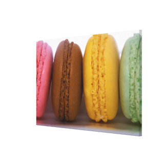 Imported gourmet French macarons (macaroons) Stretched Canvas Print