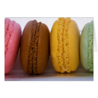Imported gourmet French macarons (macaroons) Greeting Card