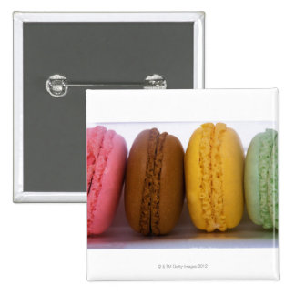 Imported gourmet French macarons (macaroons) Pinback Button