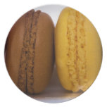 Imported gourmet French macarons (macaroons) Dinner Plate