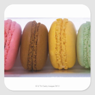 Imported gourmet French macarons (macaroons) Square Sticker