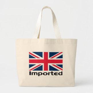 Imported UK Flag Large Tote Bag