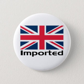 Imported UK Flag Pinback Button