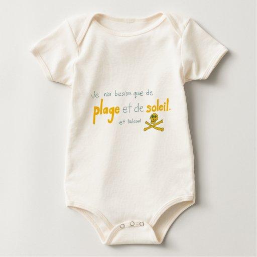 Importune los choses de je besoin de deux del que body para bebé