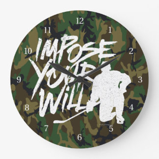 Impose Your Will (Hockey) Large Clock