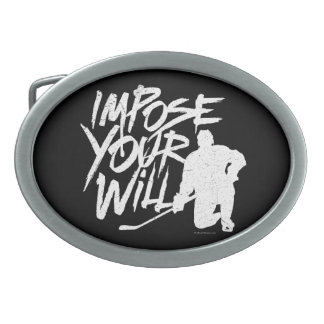 Impose Your Will (Hockey) Oval Belt Buckle