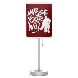 Impose Your Will (Hockey) Table Lamp
