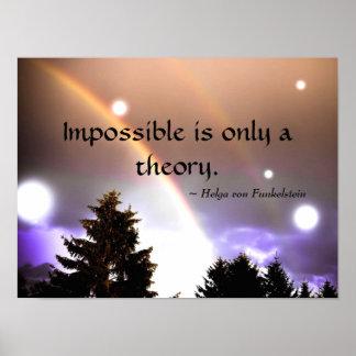 Imposible es solamente una inspiración de la póster