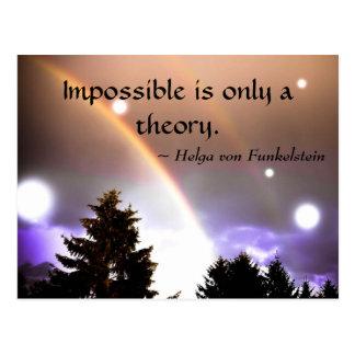 Imposible es solamente una inspiración de la tarjetas postales