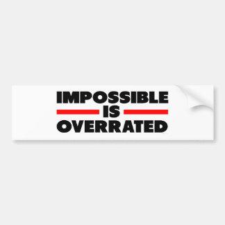 Imposible se sobrestima etiqueta de parachoque
