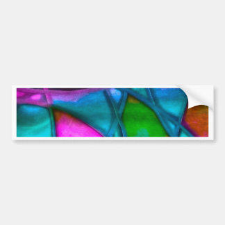 imposing abstract blue bumper sticker