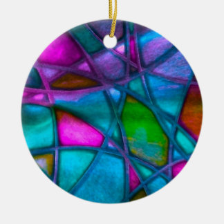 imposing abstract blue ornaments