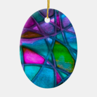 imposing abstract blue christmas tree ornament