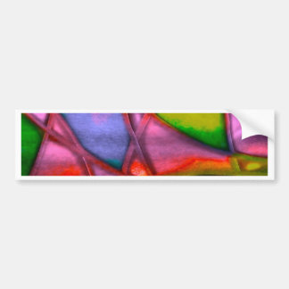 imposing abstract red bumper sticker