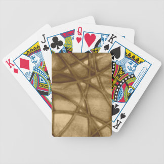 imposing abstract sepia bicycle playing cards