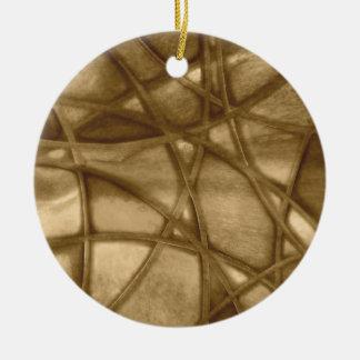imposing abstract sepia christmas ornaments
