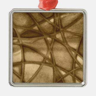 imposing abstract sepia christmas tree ornament