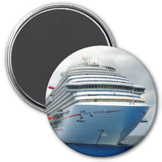 Imposing Bow 3 Inch Round Magnet