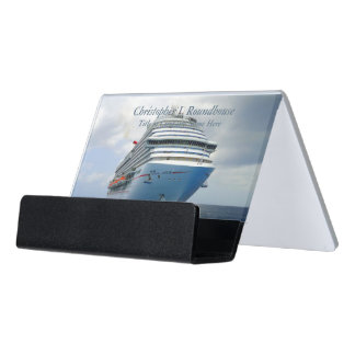 Imposing Bow CH2P Personalized Desk Business Card Holder