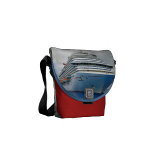 Imposing Bow Red Mini Courier Bag