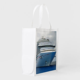 Imposing Bow Two Sided Reusable Grocery Bag
