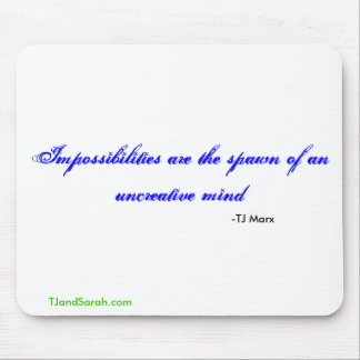 Impossibilities mouse pad
