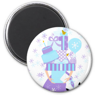 Impossible Birthday Stack No.1 Winter Magnet