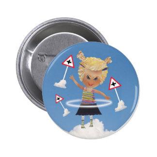 Impossible child! 2 inch round button