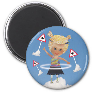 Impossible child! 2 inch round magnet
