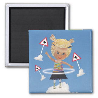 Impossible child! 2 inch square magnet