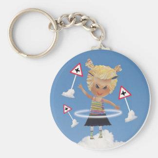 Impossible child! basic round button keychain