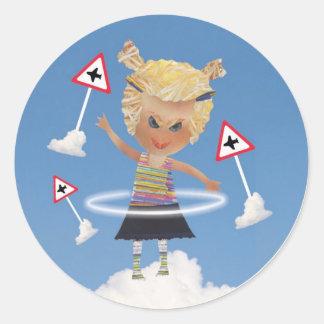 Impossible child! classic round sticker