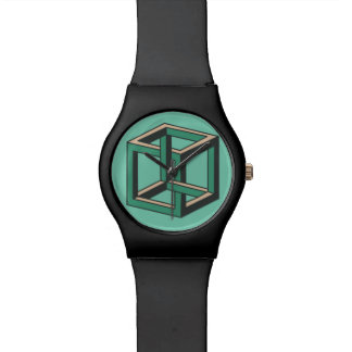 Impossible Cube Optical Illusion Watch