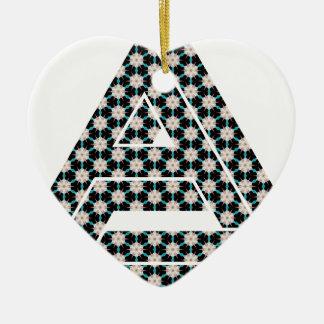 Impossible Floral Shuriken Ceramic Ornament